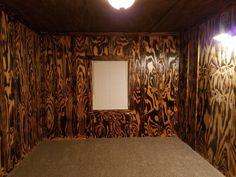 Burnt Plywood With A Polyurethane Coat Diy Wood Floors Plywood Walls Burnt Plywood Floor