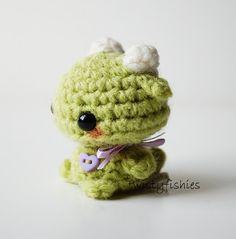 Mini Green Monster Kawaii Amigurumi Plush by twistyfishies