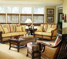 Living Room Cane Furniture Chairs Rattan Sunroom