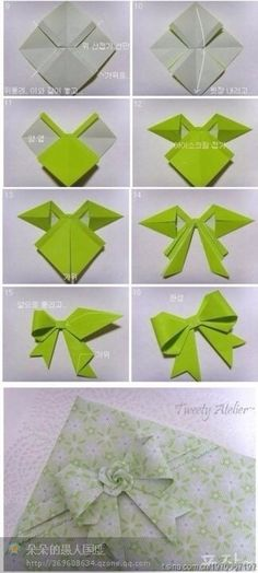 ♥Cute Bow Origami♥                                                                                                                                                                                 More