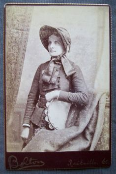 Antique Cabinet Card Photo Salvation Army Woman with Tambourine Uniform | eBay