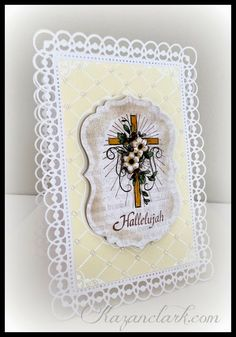 Easter Card with @Marsha Grove Papercraft and @Spellbinders