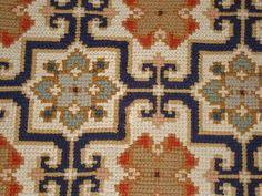 Detail from damage spot Beaded Embroidery, Cross Stitch Embroidery, Hand Embroidery, Cross Stitch Designs, Cross Stitch Patterns, Tapete Floral, Graph Design, Needlepoint Pillows, Cross Stitching