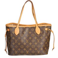 Pre-owned Louis Vuitton Tote ($850) ❤ liked on Polyvore featuring bags, handbags, tote bags, bolsas, purses, apparel & accessories, tote handbags, wallets & cases, monogrammed tote bags and brown tote bags