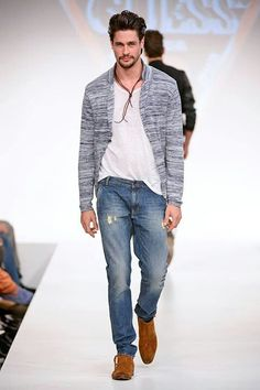 Slubby Knit Baseball Style Cardigan, by Guess, Men's Spring Summer Fashion.