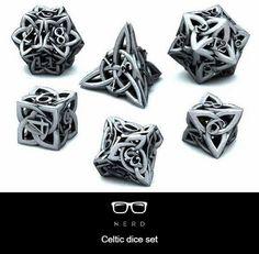 Celtic dice set- so beautiful & intricate!
