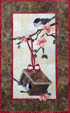 Looking for your next project? You're going to love My Sweet Chickadee by designer Cyndi at AFD. Star Quilt Patterns, Star Quilts, Mini Quilts, Quilt Blocks, Bird Applique, Applique Quilts, Quilting Projects, Sewing Projects, Animal Quilts