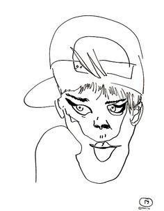 belle BRUT sketchbook: #rihanna #fashion #style #illustration #blindcontour © belle BRUT 2014 http://bellebrut.tumblr.com/post/93743635085/belle-brut-sketchbook-rihanna-fashion-style