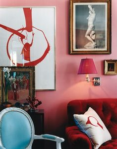 Pink & Red salon addition !! love colors and art