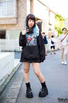 CUTE punk style ... Futon-chan, 20 years old, model, actress | 17 August 2016…
