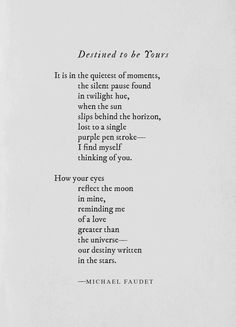 Destined to be Yours ~ Michael Faudet