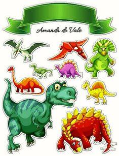 Aniv de Heitor Dinosaur Hat, The Good Dinosaur, Dinosaur Cake Toppers, Cake Wallpaper, Flashcards For Kids, Dinosaur Illustration, Dinosaur Birthday Party, Paper Cake, Printable Stickers