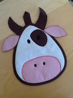 Cow potholder from Vardenis Sewing