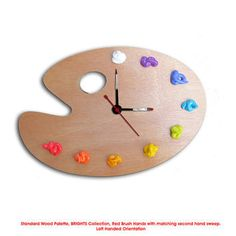 amazing wood clock | Clock, 3D Paint on Wood - Left or Right Handed - WALL or DESK CLOCK ...
