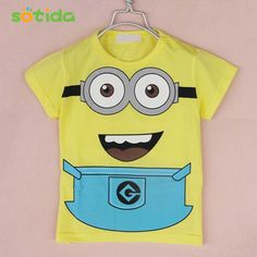 >> Click to Buy << High quality! new 2016 despicable me minions clothes cartoon anime figure minion costume children's clothing t shirts #Affiliate