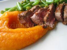 Filet mignon com puré de cenoura e feijão verde, Receita Petitchef