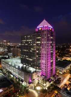 We lit up Las Olas in Tampa, Florida pink in support of October 2013's Breast Cancer Awareness