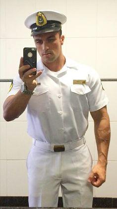 Hot Army Men, Sexy Military Men, Hot Men, Hot Cops, Navy Man, Beefy Men, Men In Uniform, Muscle Men, Beautiful Men