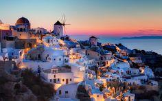 Por do Sol em Santorini - Grécia
