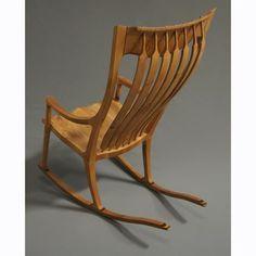 Custom Made Jos. Lamerton Rocking Chair (Alder With Walnut Accents)