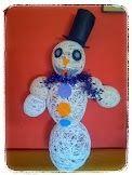 Cómo hacer un #muñecoDenieve con #lana, toma nota y manos a la obra.  #Navidad #diy #manualidadesconniños http://blgs.co/ZCx4nm