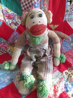 Vintage Sock Monkey 9.00