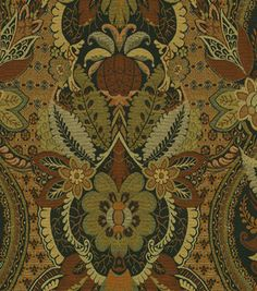 Upholstery Fabric-Waverly Gettys House Damask Mahogany