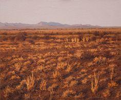 Ben Coutouvidis - Karoo landscape outside Prince Abert, oil on canvas