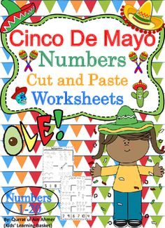 Cinco De Mayo Themed Numbers Cut and Paste Worksheets (1-20):This is a Cinco De Mayo Themed worksheets in which student can practice their number recognition from 1-20. This activity will allow students to practice number recognition, counting and the fine motor skills of cutting and pasting.* 4 worksheets are included.* Numbers 1 to 20.For Cinco De Mayo Cut and Paste Activity:https://www.teacherspayteachers.com/Product/Cinco-De-Mayo-Cut-and-Paste-Activity-WorksheetsFor Spring Themed Number…