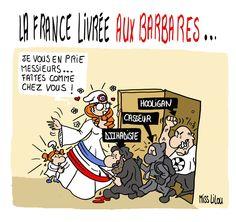 Miss Lilou (2016-05-15) La France livrée aux Barbares ! (hooligans - casseurs (grèves)  - terroristes)
