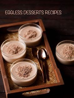 collection of top 20 delicious desserts recipes made without eggs. this collection mostly includes cakes, ice creams, mousse and some chocolate and fruit based desserts which are popular. you will find a few vegan desserts also in this collection.