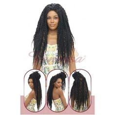 Vanessa Senegal Braid Lace Front Wig TOPS DAKAR TWIST 3 (Hand Braided)