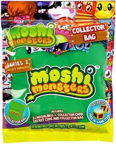 Moshi Monsters Moshlings Series 2 Mini Figure Collector Bag 2Pack Includes 1 Virtual Prize Code! by Spin Master. $9.99. The Moshi Monsters Moshling Drawstring Collector Bag is the ideal way to keep your Moshling collection safe.The bag includes two different Moshlings, a collectors card and a secret code for a free ingame item. Will you find a special Moshling