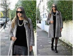 Amina Allam - Marc By Jacobs Sunnies, Balmain Fake Fur Coat, Ted Baker Dress, Chanel High Leather Sneakers, Street Merchant In South Africa Necklace - Fake fur from Balmain
