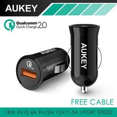 Aukey For Qualcomm Quick Charge QC2.0 USB Car Charger Adapter for HTC M9 Nexus 6 Xiaomi Tablet PC and more Smartphone