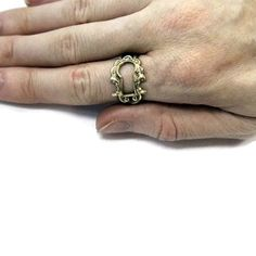 Keyhole Ring - Bronze Victorian Escutcheon Adjustable Ring - Gwen Delicious Jewelry Design. $39.50, via Etsy.