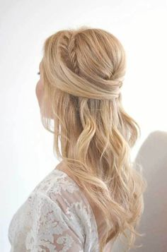 25 Elegant Half Updo Weddings Hairstyles