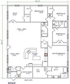Barndo Floor Plan-5 bedroom 3000 sq ft
