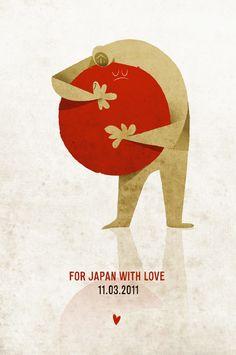 For japan with love by Riccardo Guasco, via Behance