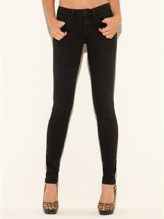 GUESS Brittney Skinny Jeans with Lace Pockets