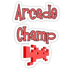 """""""Arcade Champ by Chillee Wilson"""" Stickers by ChilleeWilson 