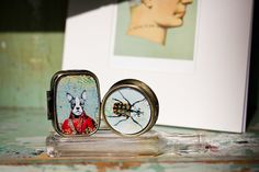 Dog Portrait & Insect Pill Boxes: $4.95 each www.earthboundtrading.com
