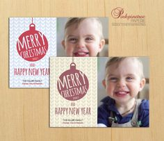 Stylish modern Christmas Flat Card designed with a chevron pattern and a lovely ornament with a text Merry Christmas and Happy New Year. Your vertical photo has a place on the right side. *Photo Sample Credit: ©Alexandre Normand #christmas #xmas #flat #card #custom #photo #customizable #customize #template #templates #chevron #modern #contemporary #fun #lovely #ornament