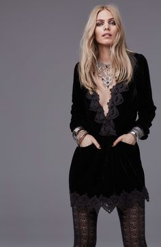 touchable texture and beautiful scalloped lace trim on velvet...love the stockings