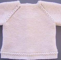 puntomoderno.com tutorial Jersey de Bebé Alex Tricot Baby, Knitted Baby Clothes, Baby Cardigan, Brick Stitch, Baby Knitting Patterns, Crochet Baby, Kids Fashion, Manga Raglan, Sweaters