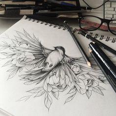 "2,250 curtidas, 70 comentários - Olga Koroleva (@olshery) no Instagram: ""^^ эскиз занят #эскизтату #набросок #эскиз #роза #tattoo #tattoo2me #tattooart #tattoopins…"""
