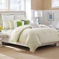 Delwood Queen Duvet Set: Just in time for spring, but ready for any season. This duvet set is adorned with a petal-inspired pattern in a soft green hue that's sure to refresh any room. Comforters, King Duvet Cover Sets, Comforter Sets, Bed, Duvet Sets, King Comforter Sets, Bedroom Sets, Home Bedroom, Bed Bath And Beyond