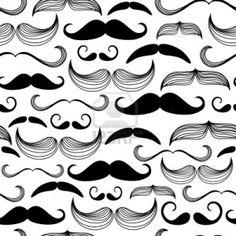 Gentlemen's Club. Mustache Seamless Pattern Royalty Free Cliparts ...
