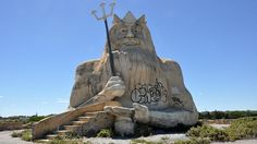 King Neptune still reigns over  the abandoned Atlantis Marine Park in Yanchep, Western Australia