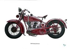 """I've been working on a pair of paintings, just for the Motorcycle Boys! The pair is called """"Dream Rider"""". This is the first of the two, The 1929 Harley, the next is a 1919 Indian. They match perfectly, but man, is there a lot of detail in these babies! I would call this more like illustration than painting! They are 16"""" x 24"""" Acrylic."""
